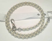 Faux Pearl N Silver for pets up to 65 pds.