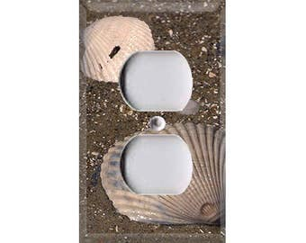 Shells in the Sand Outlet Cover