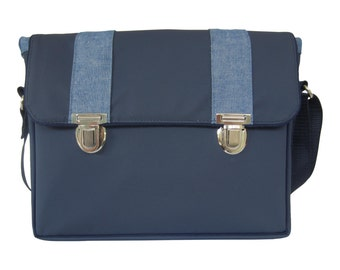 Messenger bag blue Small