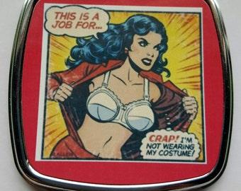 Wonder Woman Compact Mirror, Superhero, Mirror, Wonder Woman,
