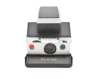Polaroid SX-70 Land Camera ALPHA BC - New Black Leather Covering - Film Tested - Guaranteed Working SX70