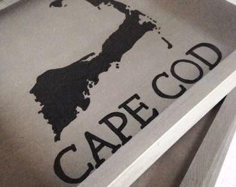 Cape Cod tray - nautical tray, Cape Cod decor, Cape Cod gift