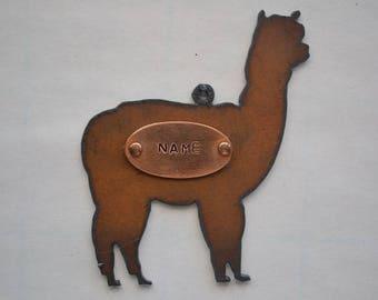 LLAMA / ALPACA made of Rustic Rusty Rusted Recycled Metal Custom Personalized FFA Show Alpaca / Llama Ornament or Magnet
