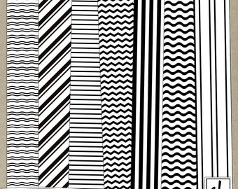 Digital Paper - Pattern Overlays - Digital Patterns - Striped Overlays - Striped Patterns - Striped Paper - Instant Download - CU OK