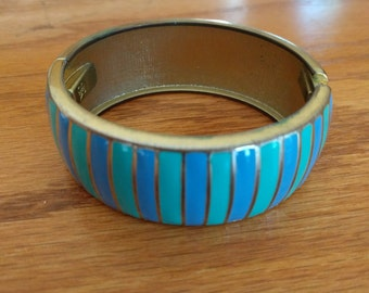 Striped enamel bangle