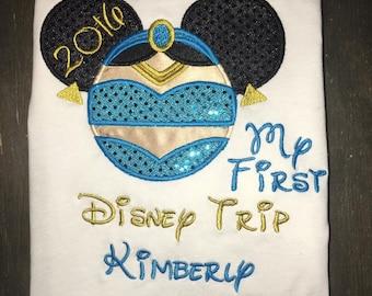 My First Disney Trip/Mickey Ears appliqued shirt.