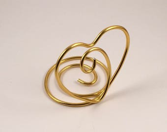 Wire Heart Style - Place Card Holder / Table Number Holder / Photo Holder
