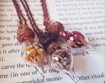 Herb Vial Necklaces