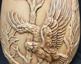 Ceramic Eagle Vase