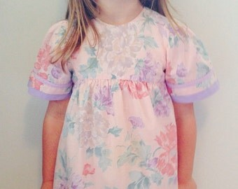 floral dress size small (5-6t)