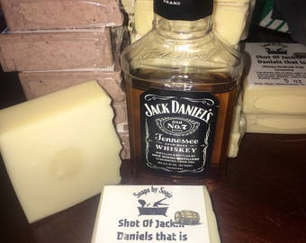 Jack Daniels Whiskey Handmade Soap, whiskey soap, tennessee whiskey soap bar, Father's Day gift, gift for dad, gift for him