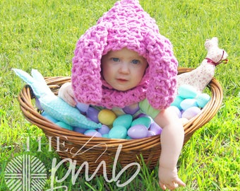 CROCHET PATTERN Floppy Bunny Hooded Cowl. Pattern number 064. Instant Download