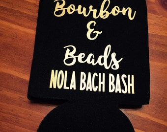 bourbon and beads bachelorette party can coolers / new orleans bachelorette party / nola bachelorette party favors / fast shipping