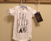 Eat. Sleep. Camp. Onesie