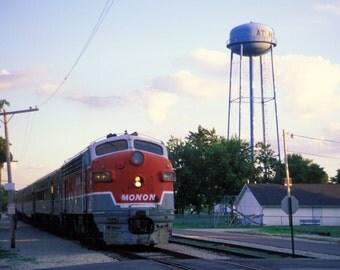 Monon Railroad GM EMD F3 Engine. Atlanta, Indiana. Fine Art Archival Photograph, Signed with COA