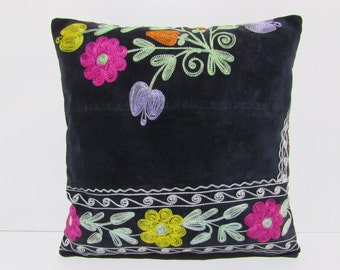 "16x16"" SUZANI PILLOW suzani pillow cover suzani pillow case suzani bedding pillow suzani pillowcase suzani throw pillow suzani fabric S1023"