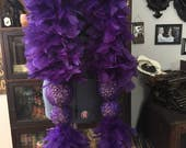 Custom Order - Luxe Showgirl Feather Boa w/ Glitter Globes & Rhinestoned Tassels  - Burlesque - 28 Colors