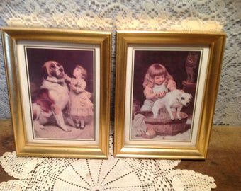 Vintage Girl Pictures with Dogs
