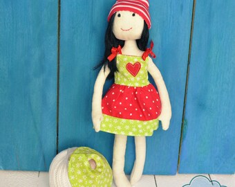Rag Doll from cotton fabrics