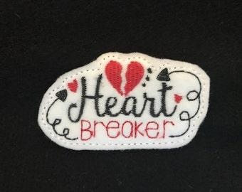 UNCUT Heart Breaker feltie