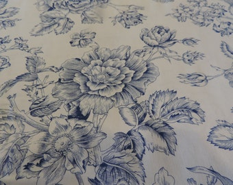 Always and Forever blue, rose, toile by Alex Anderson