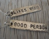 Likes Weed Good Person pendants necklace - 10 dollar donation to Parents 4 Pot (P4P) with purchase
