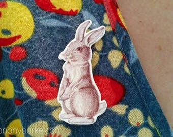 Bunny Brooch - Vintage Style