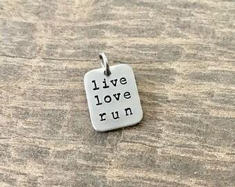 Running Charms, Live Love Run, Running Jewelry, Marathon Jewelry, Gifts for Runners, Half Marathon Jewelry, Ultra Running, Runner Girl