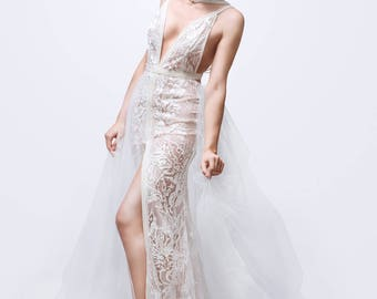 Lace wedding dress, designer wedding dresses, prom dresses