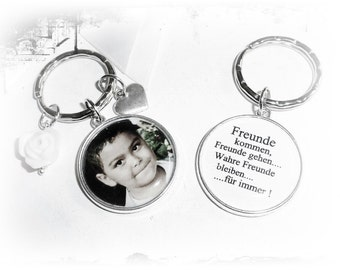 Key ring with photo, saying...
