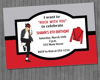 Michael Jackson Invitations