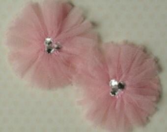 Maya Road Tu-Tu Tulle Flowers - Ballerina Pink