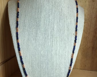 Natural Amethyst and Gold Bead Necklace