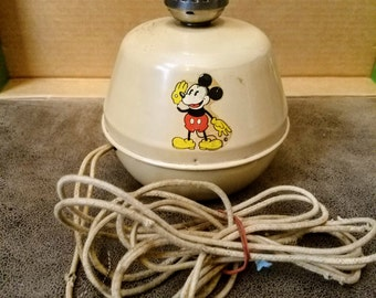 Antique. 1930's Mickey Mouse Lamp