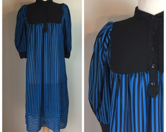 Vintage 70's 80's Striped Sheath Dress