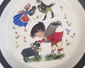 SALE! Vintage Doverstone Staffordshire England 'Heather' Baa, Baa, Black Sheep Nursery Rhyme Plate