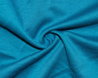 """Blue Teal Ponte Di Roma Double Knit Polyester Rayon Spandex Lycra Stretch Medium Weight Apparel Craft Fabric 58""""-60"""" Wide By The Yard"""