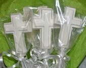 Chocolate cross favors - baptism favor - christening favor - communion favor - confirmation favor - religious favor - edible cross favor