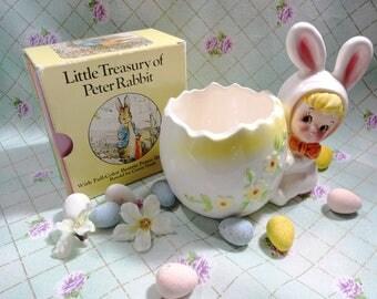 Vintage Lefton Easter Egg Bunny Girl