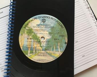 Vinyl record address book - Shaun Cassidy