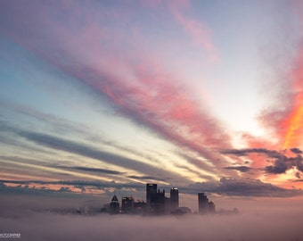 City in the Clouds | Pittsburgh Fog at Sunrise