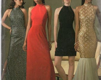 Simplicity Pattern 8330 EVENING DRESSES Skirt & Back Variations  Misses Sizes 4 6 8 10 12