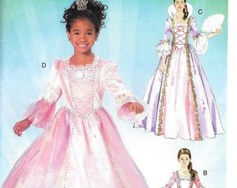 PRINCESS GOWNS McCall's Costumes Pattern 5731 Misses Sizes Sm - Xlrg