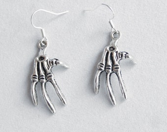 Earrings Bird Claw, skelleton, taxidermie, paw, claw, skull