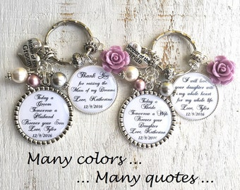 Personalized Wedding Gift Mother-of-the-Bride Gift Mother-of-the-Groom Gift Mother-in-Law Gift from Bride Gift from Groom Wedding Keychain