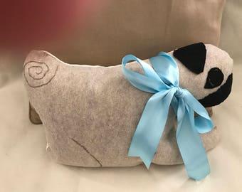 All handmade Pug accent Pillow