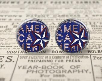 America Earrings or Ring
