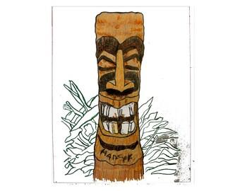 TIKI Art by WGilroy…Tiki Art…Tiki Design…Tiki Print…Tikis...Local Tikis...Beach Life Décor...Coastal Living Décor...Tropical Décor..Tiki Bar