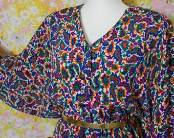 Pretty in Paisley Vintage Dolman Sleeve Dress