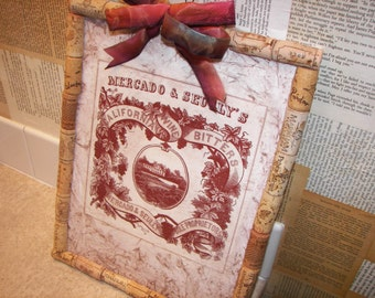 Vintage wine label art canvas
